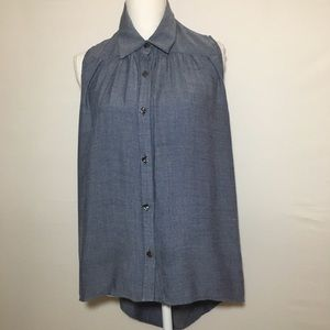 CAbi Chambray Sleeveless Top